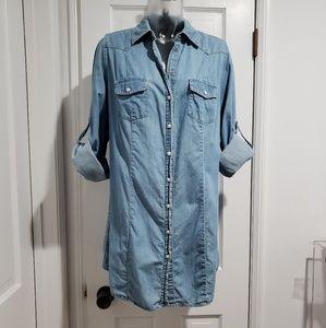Lane Bryant Light Denim Shirt 14/16
